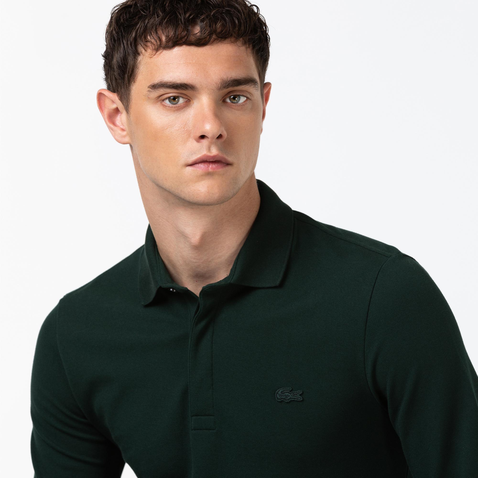 Lacoste Erkek Regular Fit Uzun Kollu Yeşil Paris Polo