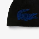 Lacoste Unisex Yün Siyah - Mavi Bere