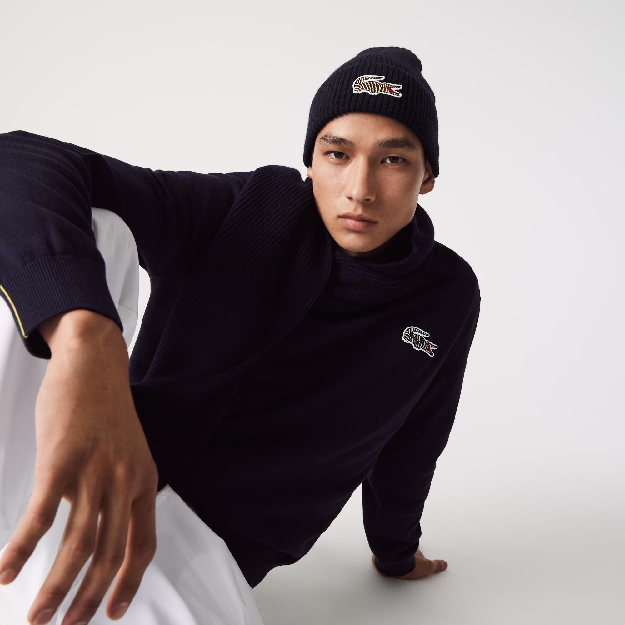 Lacoste x National Geographic Unisex Yün Lacivert Bere