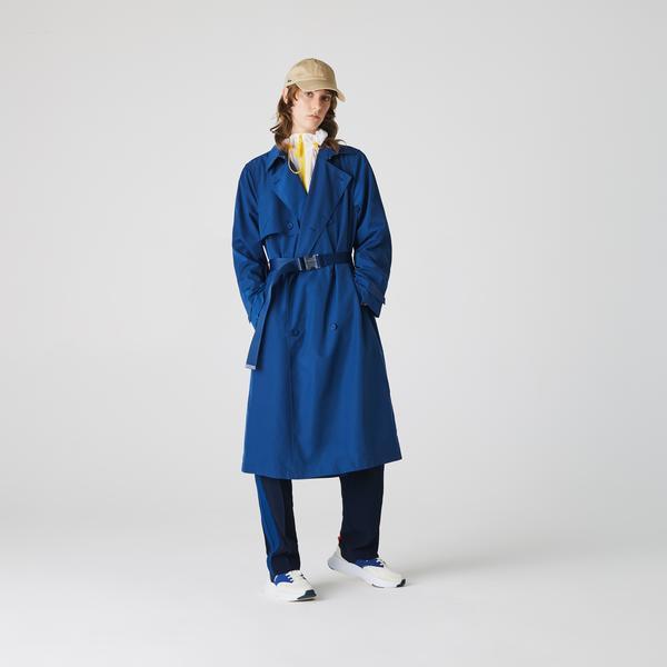 Lacoste Kadın Mavi Trençkot