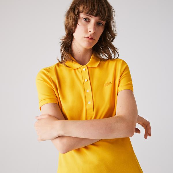 Lacoste Kadın Slim Fit Sarı Polo