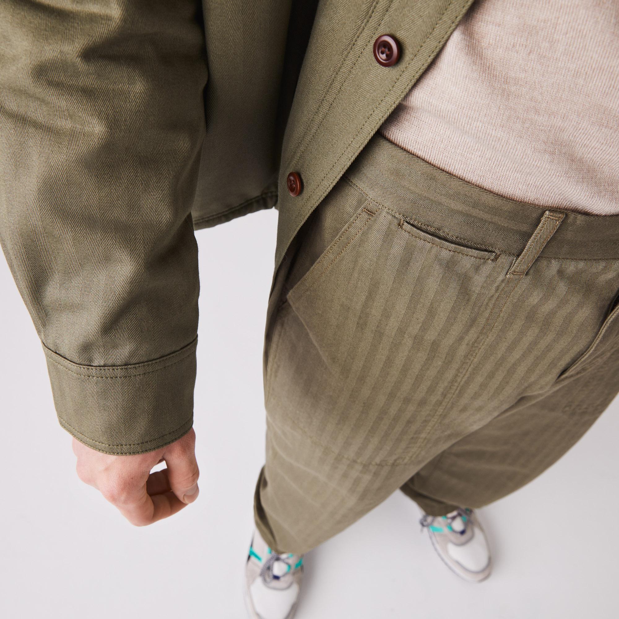 Lacoste Erkek Desenli Haki Pantolon