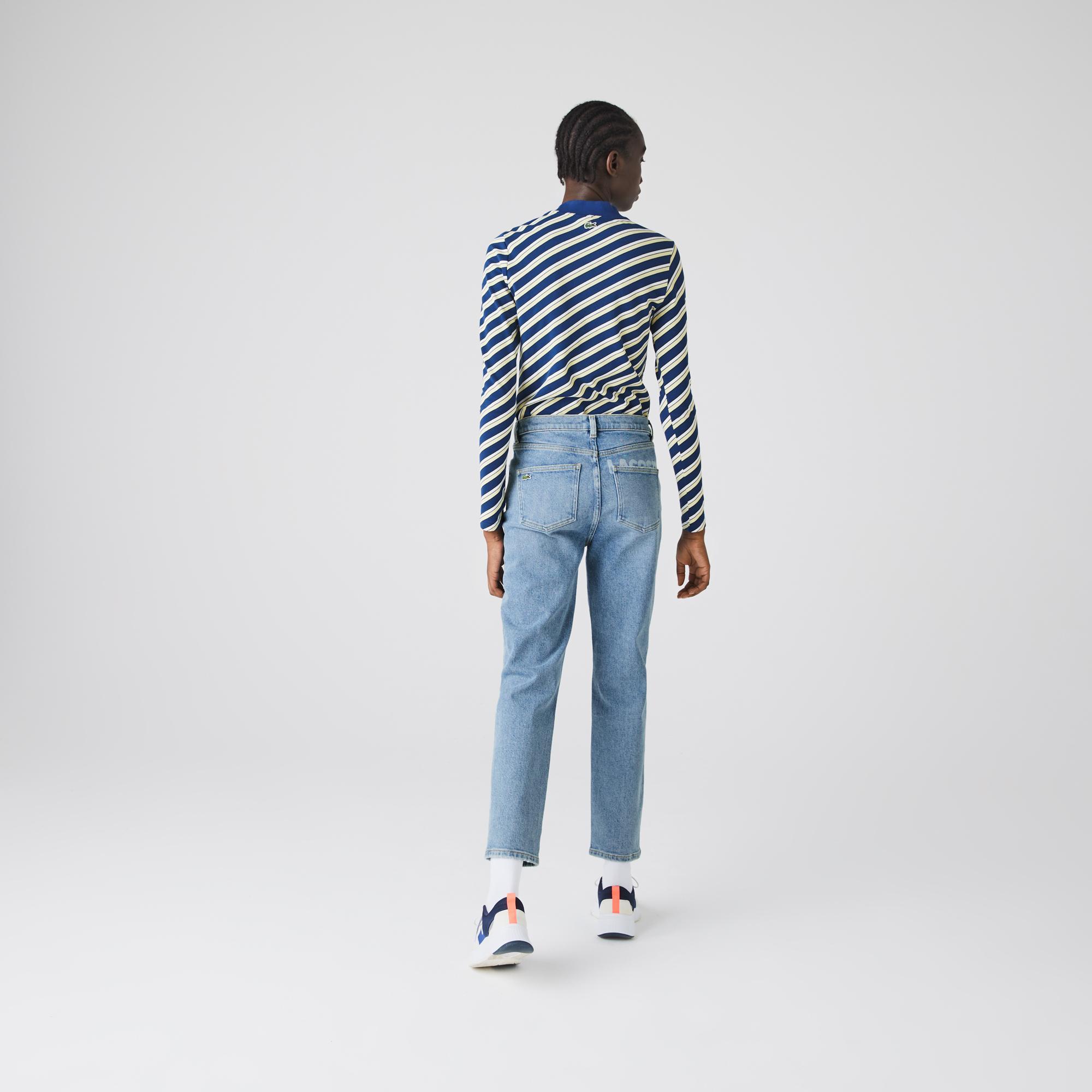 Lacoste L!VE Kadın Slim Fit Denim Pantolon
