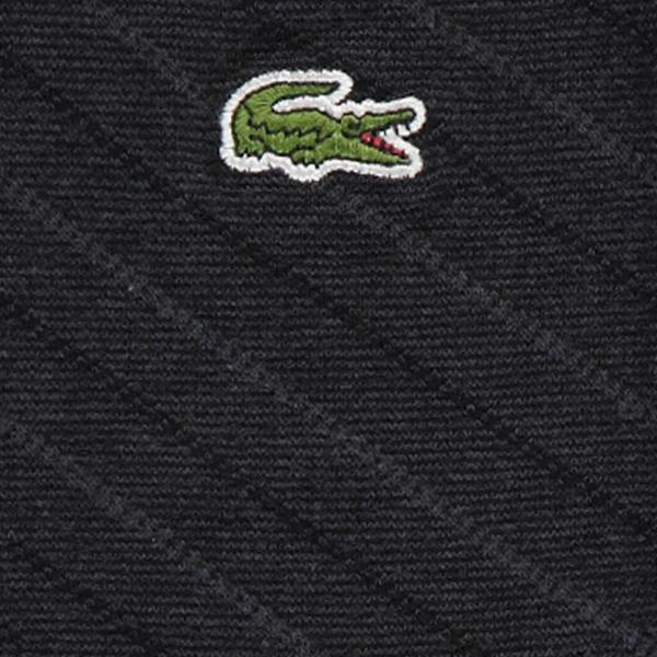 Lacoste Unisex Çizgili Uzun Siyah Çorap