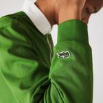 Lacoste Erkek Çizgili Polo Yaka Yeşil Rugby