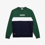 Lacoste Sport Erkek Blok Desenli Baskılı Bisiklet Yaka Renkli Sweatshirt