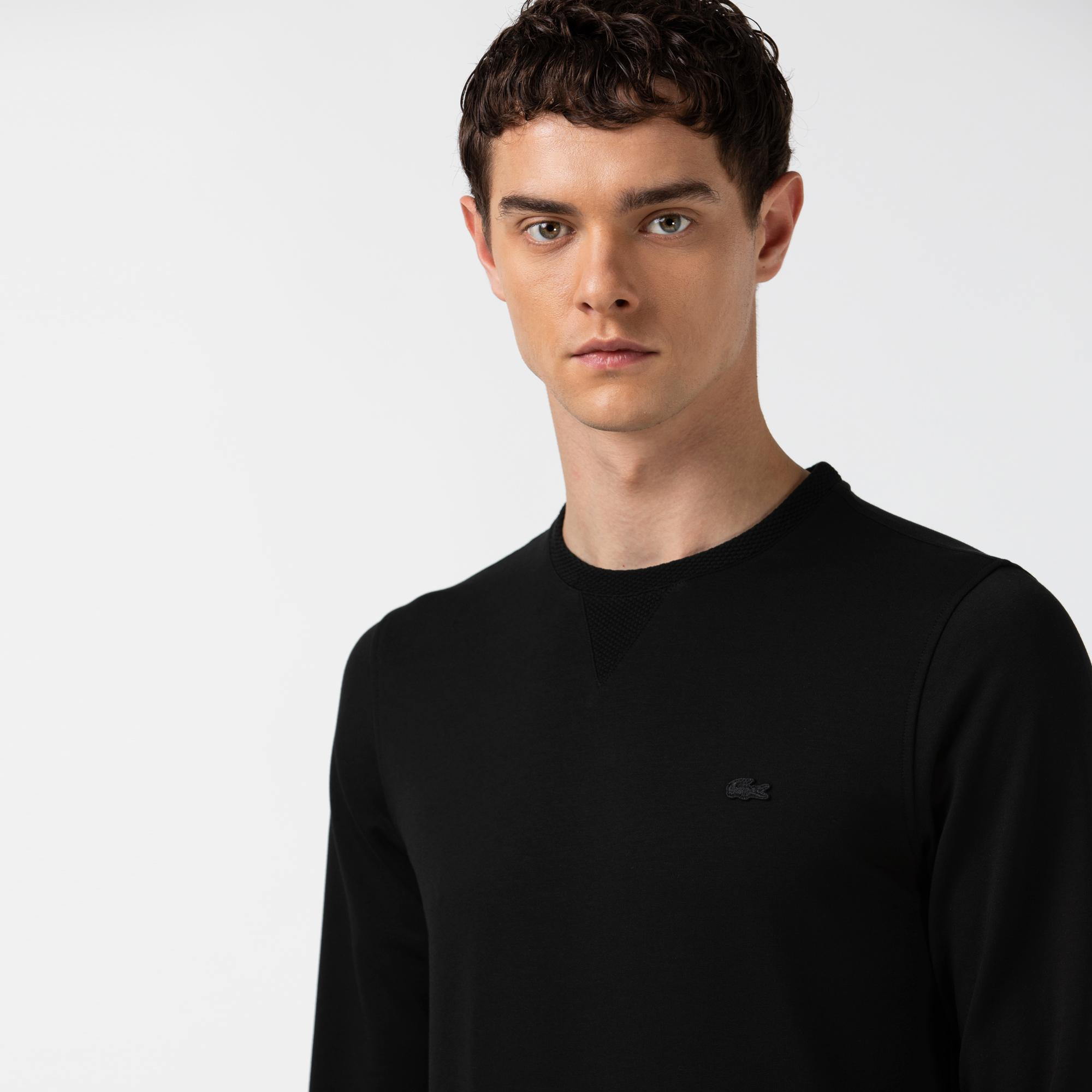 Lacoste Erkek Bisiklet Yaka Siyah Sweatshirt