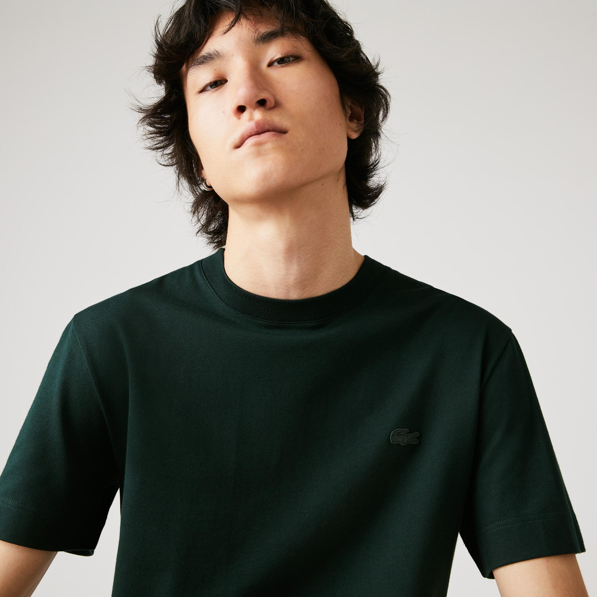 Lacoste Erkek Bisiklet Yaka Haki T-Shirt