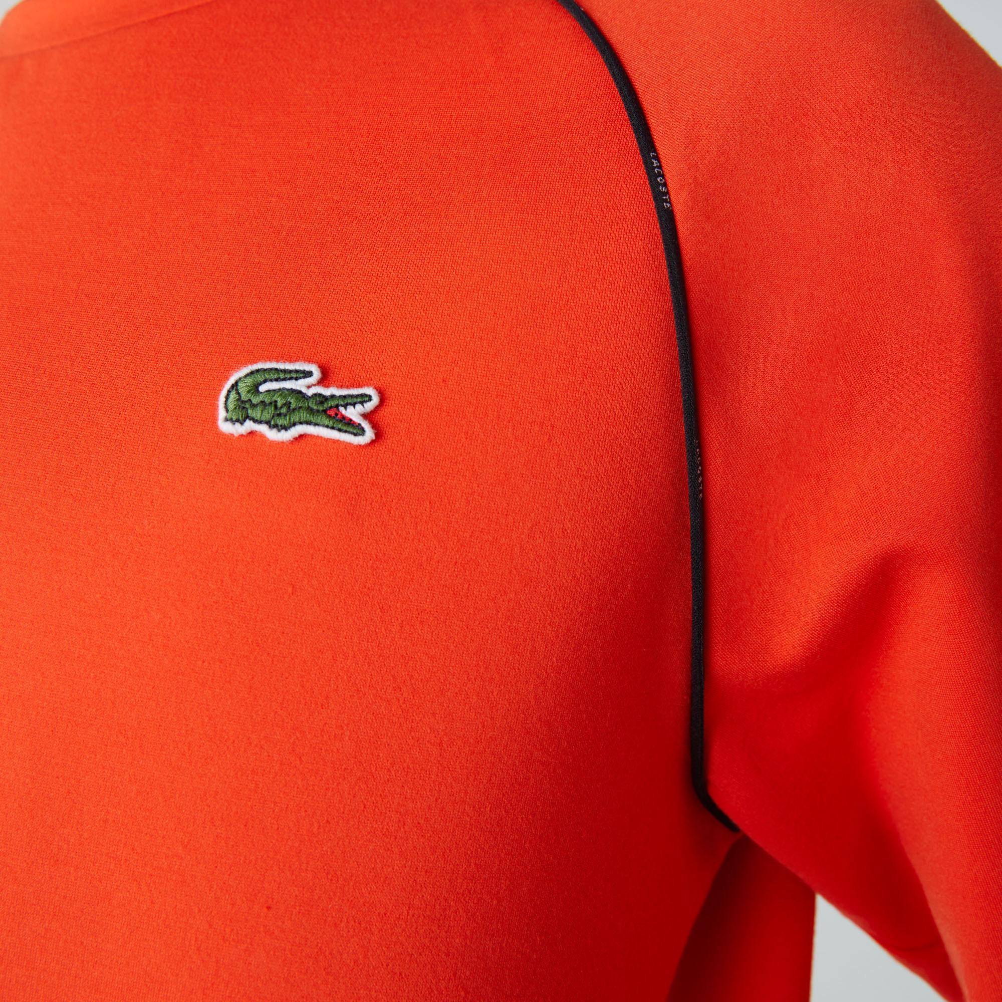 Lacoste Sport Erkek Bisiklet Yaka Uzun Kollu Turuncu T-Shirt