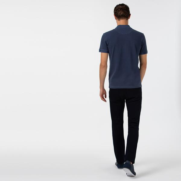 Lacoste Erkek Slim Fit Streç Denim Lacivert Pantolon