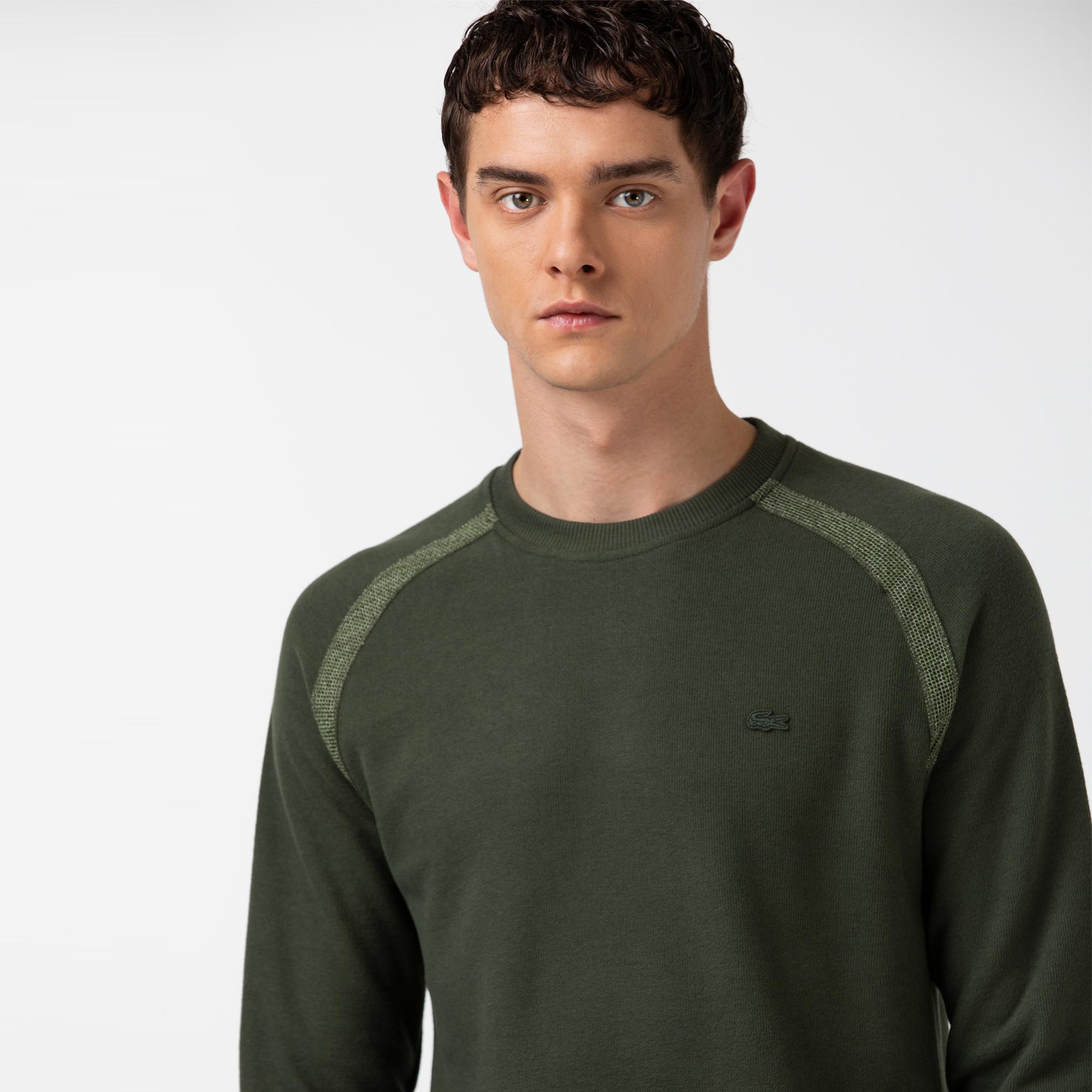 Lacoste Erkek Bisiklet Yaka Uzun Kollu Haki T-Shirt