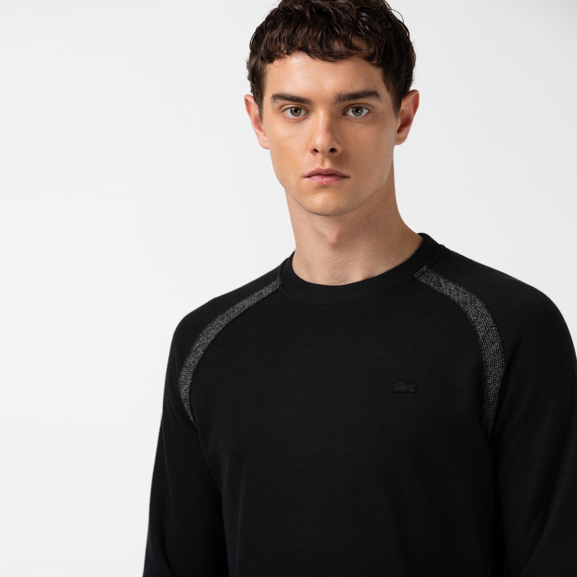 Lacoste Erkek Bisiklet Yaka Uzun Kollu Siyah T-Shirt