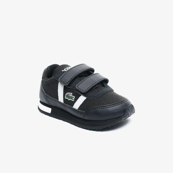 Lacoste Partner 0120 1 Çocuk Siyah - Beyaz Sneaker