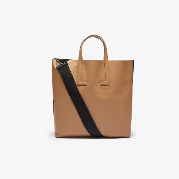 Lacoste Duo Bag Kadın Deri Açık Kahverengi - Siyah Çapraz Çanta