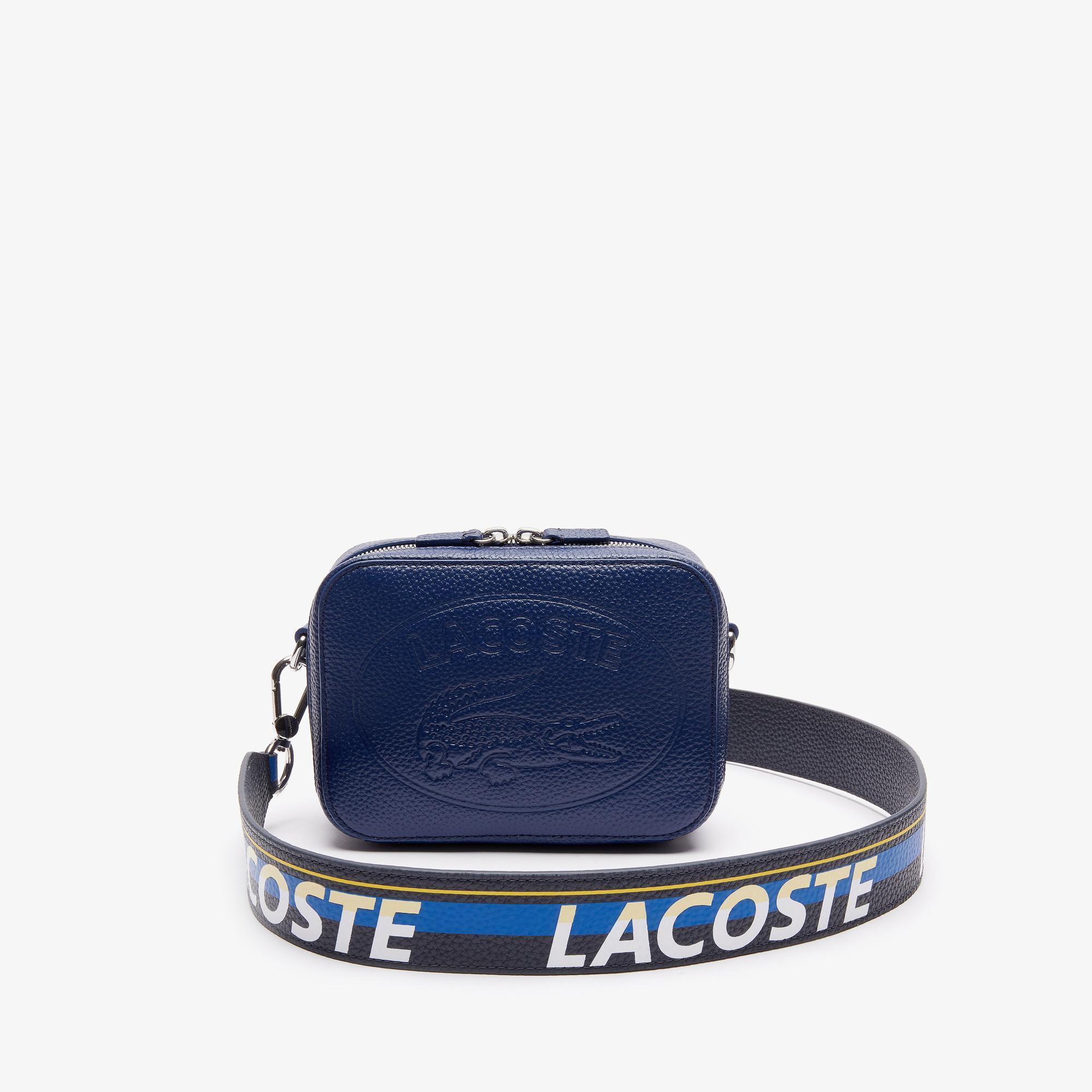 Lacoste Croco Crew Kadın Deri Mavi Çapraz Çanta
