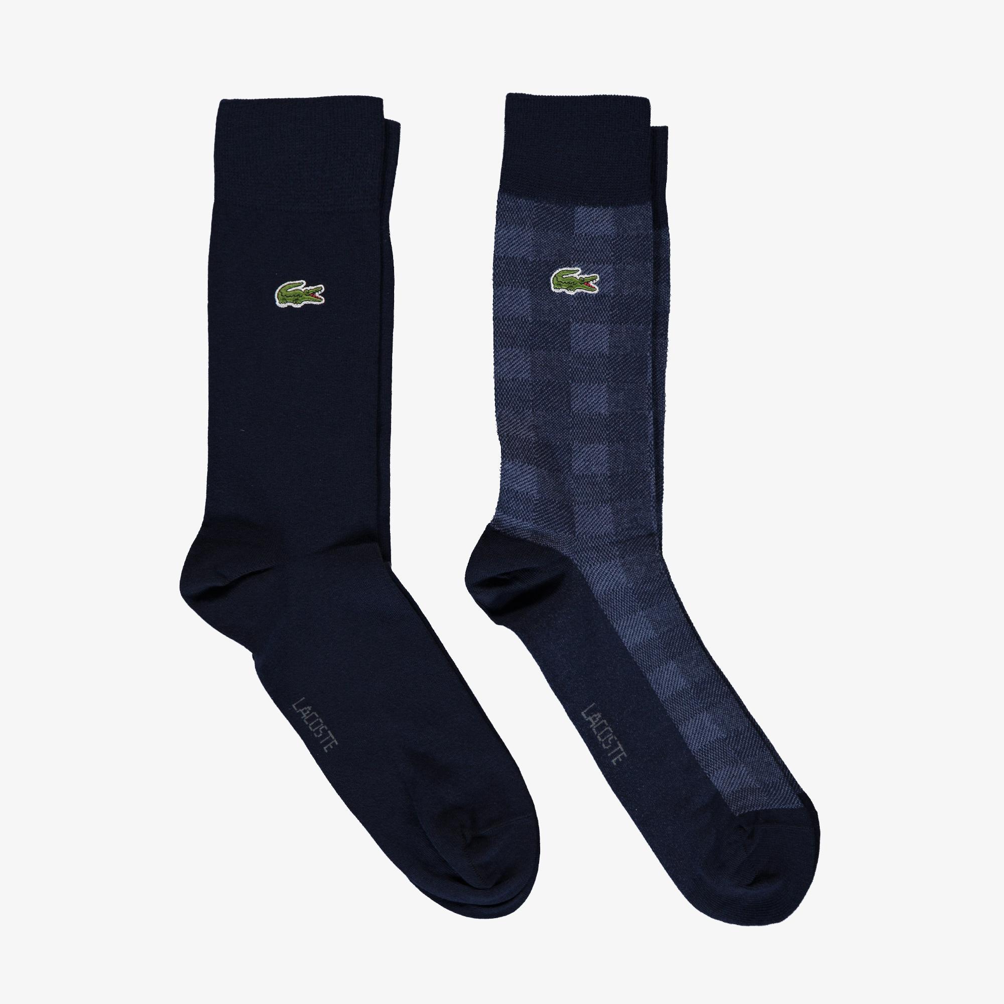 Lacoste Unisex Uzun Lacivert 2'li Çorap
