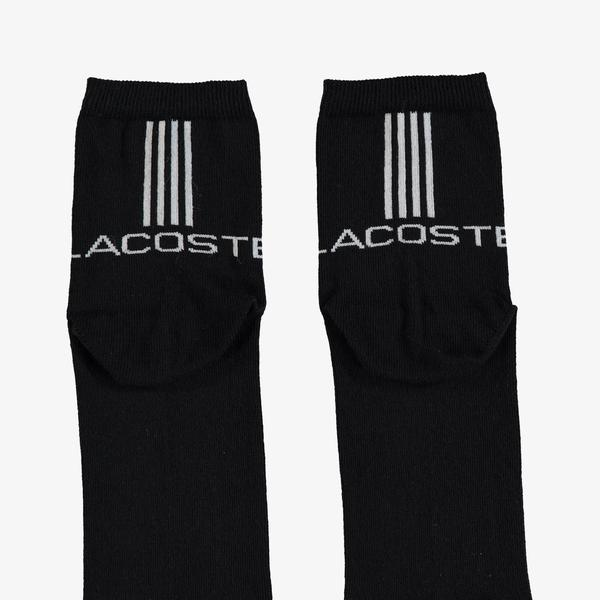 Lacoste Unisex Kısa Siyah Çorap
