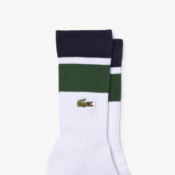 Lacoste Sport Unisex Uzun Beyaz Çorap