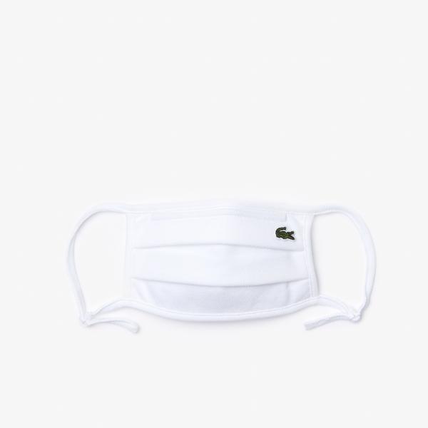 Lacoste Pamuklu Yıkanabilir Beyaz Maske