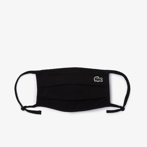 Lacoste Pamuklu Yıkanabilir Siyah Maske