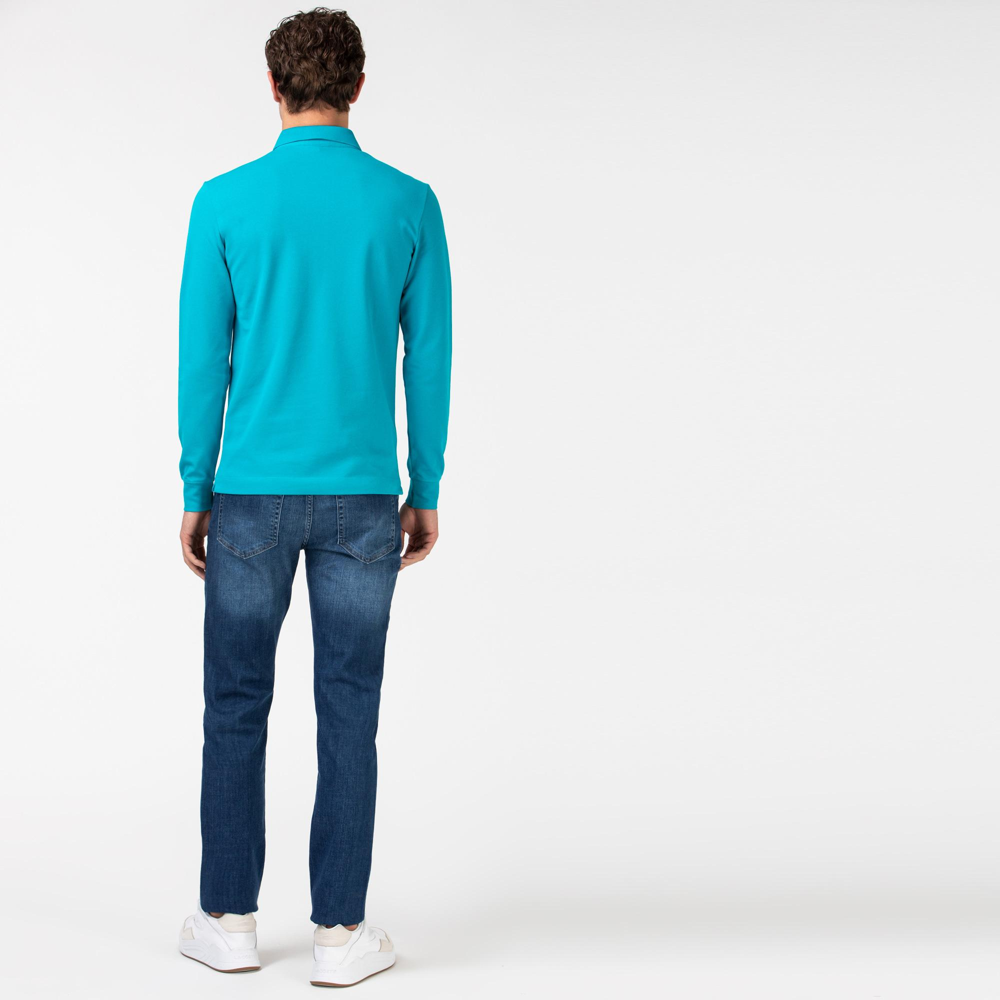 Lacoste Erkek Slim Fit Denim Lacivert Pantolon