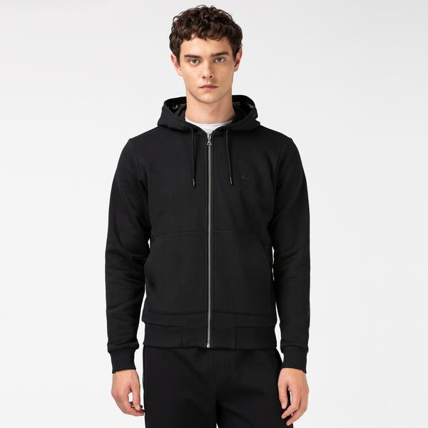 Lacoste Erkek Kapüşonlu Siyah Sweatshirt