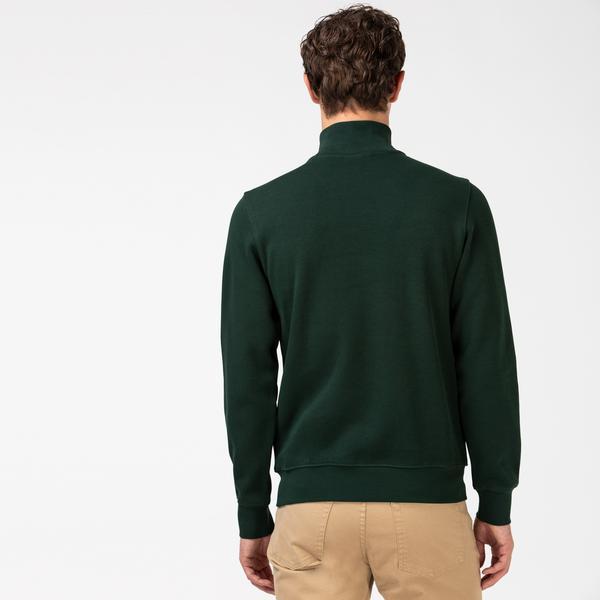 Lacoste Erkek Fermuarlı Haki Sweatshirt