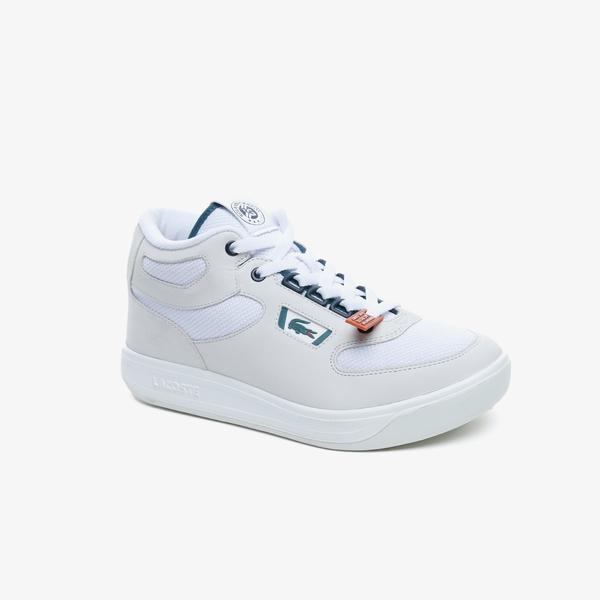 Lacoste Balsa Og Rg 220 1 Sma Erkek Beyaz - Koyu Yeşil Deri Mid Sneaker