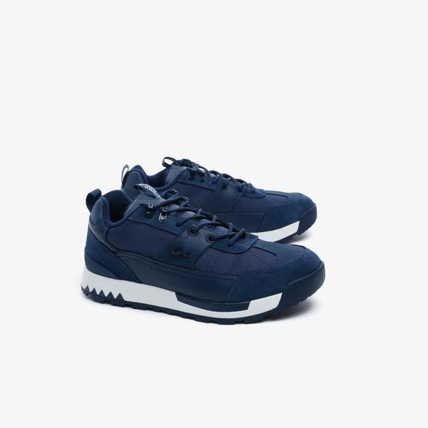 Lacoste Urban Breaker Lo 03201Cma Erkek Deri Lacivert - Beyaz Sneaker