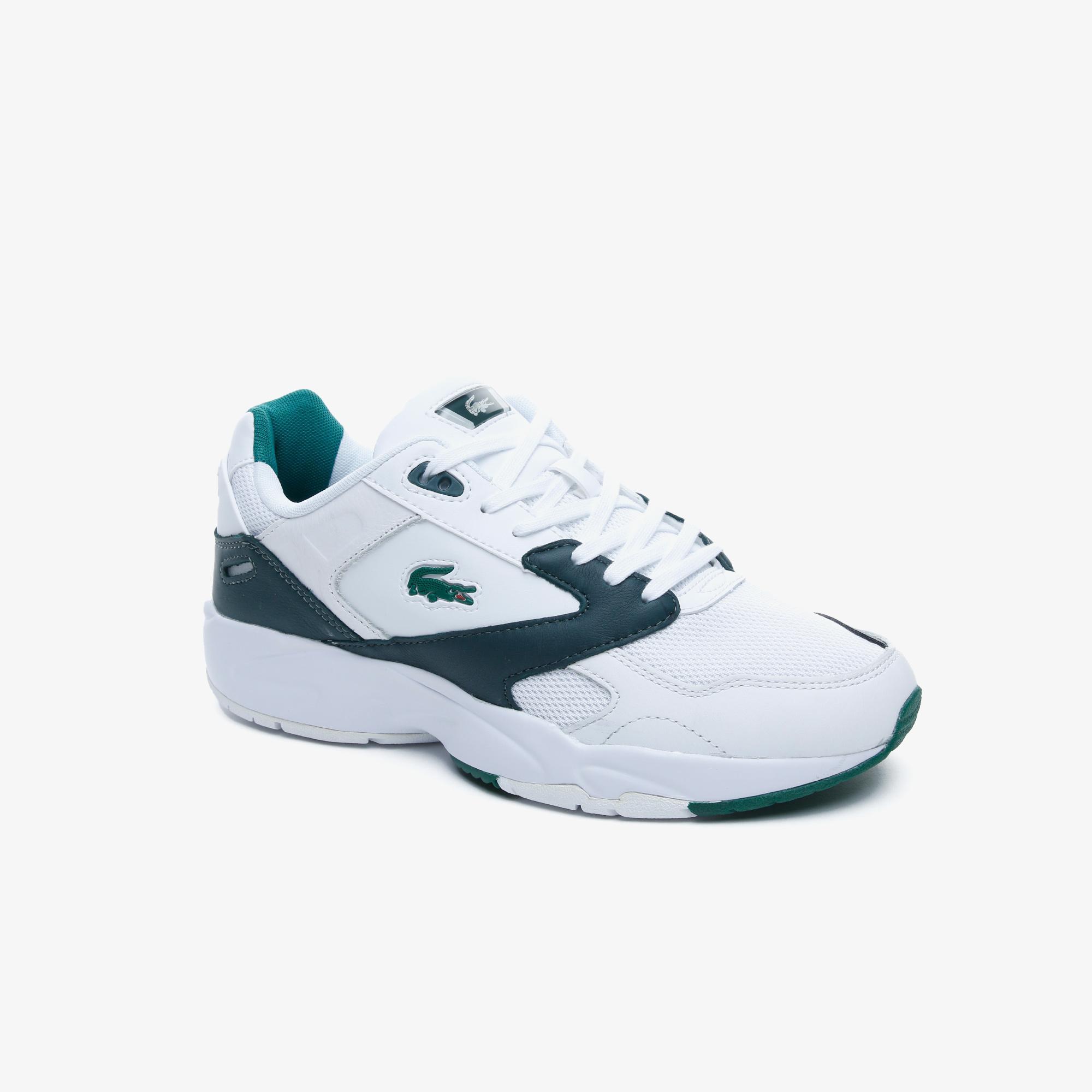 Lacoste Storm96 Lo 0220 1 Qsp Sma Erkek Beyaz - Koyu Yeşil Sneaker