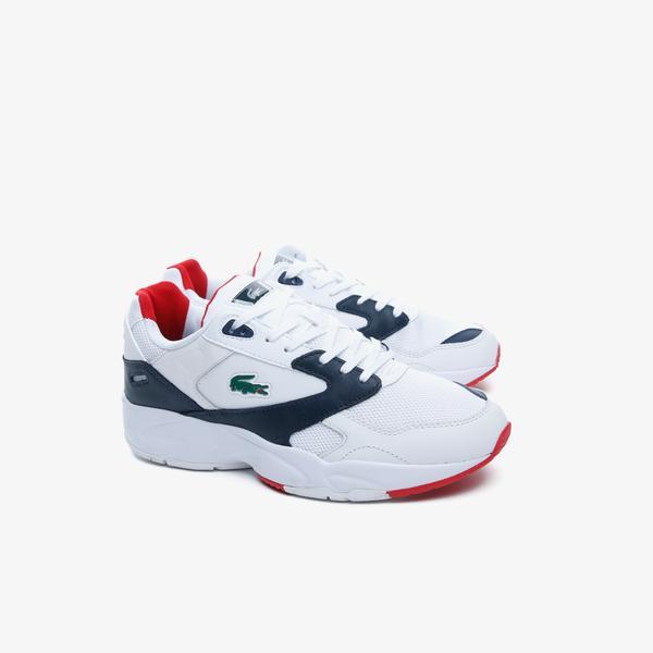 Lacoste Storm96 Lo 0220 1 Qsp Sma Erkek Beyaz - Lacivert Sneaker