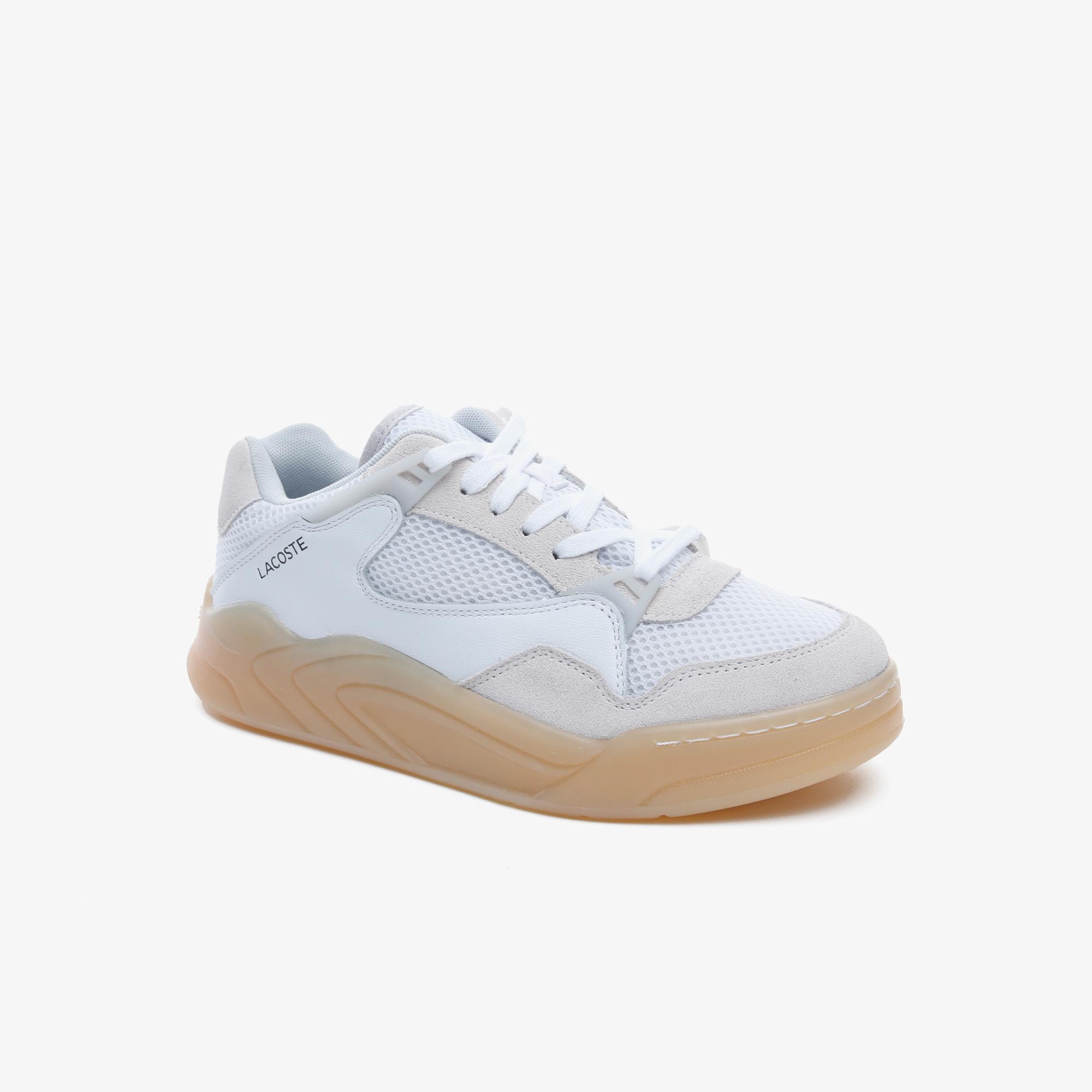 Lacoste Court Slam Dynamic 2201 Kadın Bej - Beyaz Sneaker
