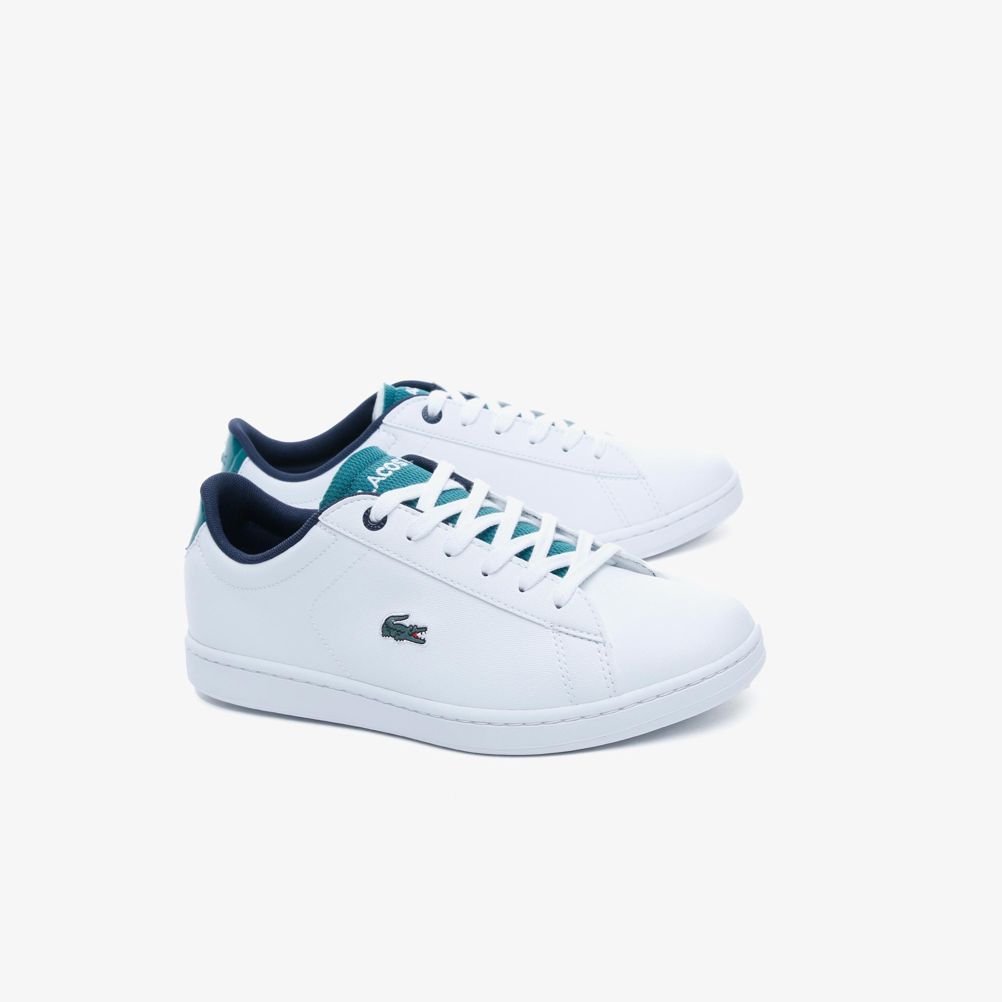 Lacoste Carnaby Evo 120 2 Kadın Beyaz - Yeşil Sneaker