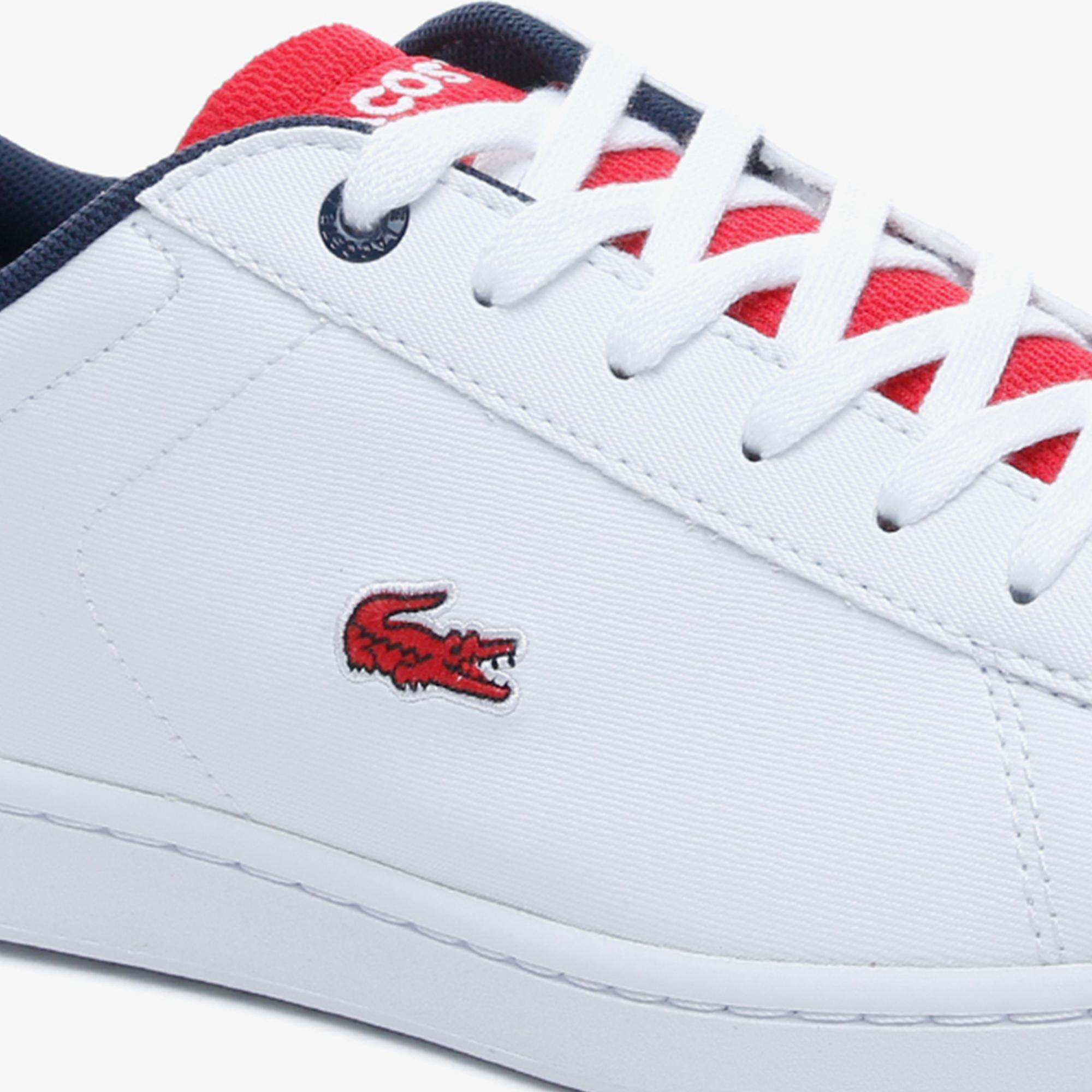 Lacoste Carnaby Evo 120 2 Kadın Beyaz- Kırmızı Sneaker