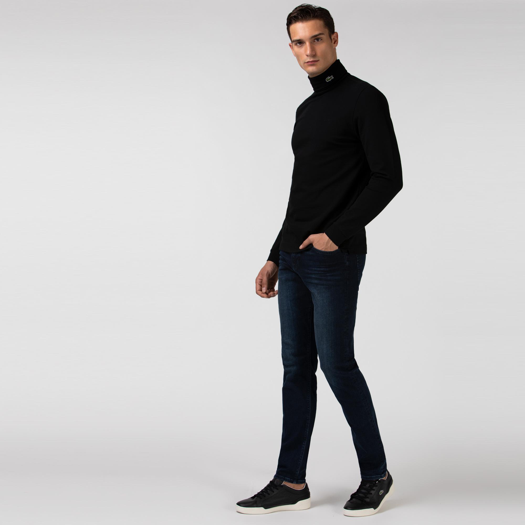 Lacoste Erkek Slim Fit Streç Denim Denim Pantolon
