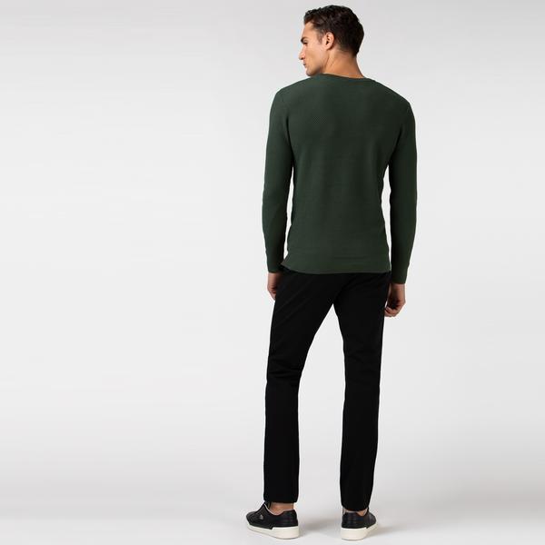 Lacoste Erkek Slim Fit Streç Siyah Pantolon