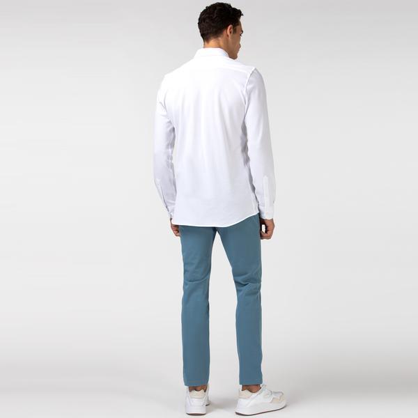 Lacoste Erkek Slim Fit Streç Mavi Pantolon