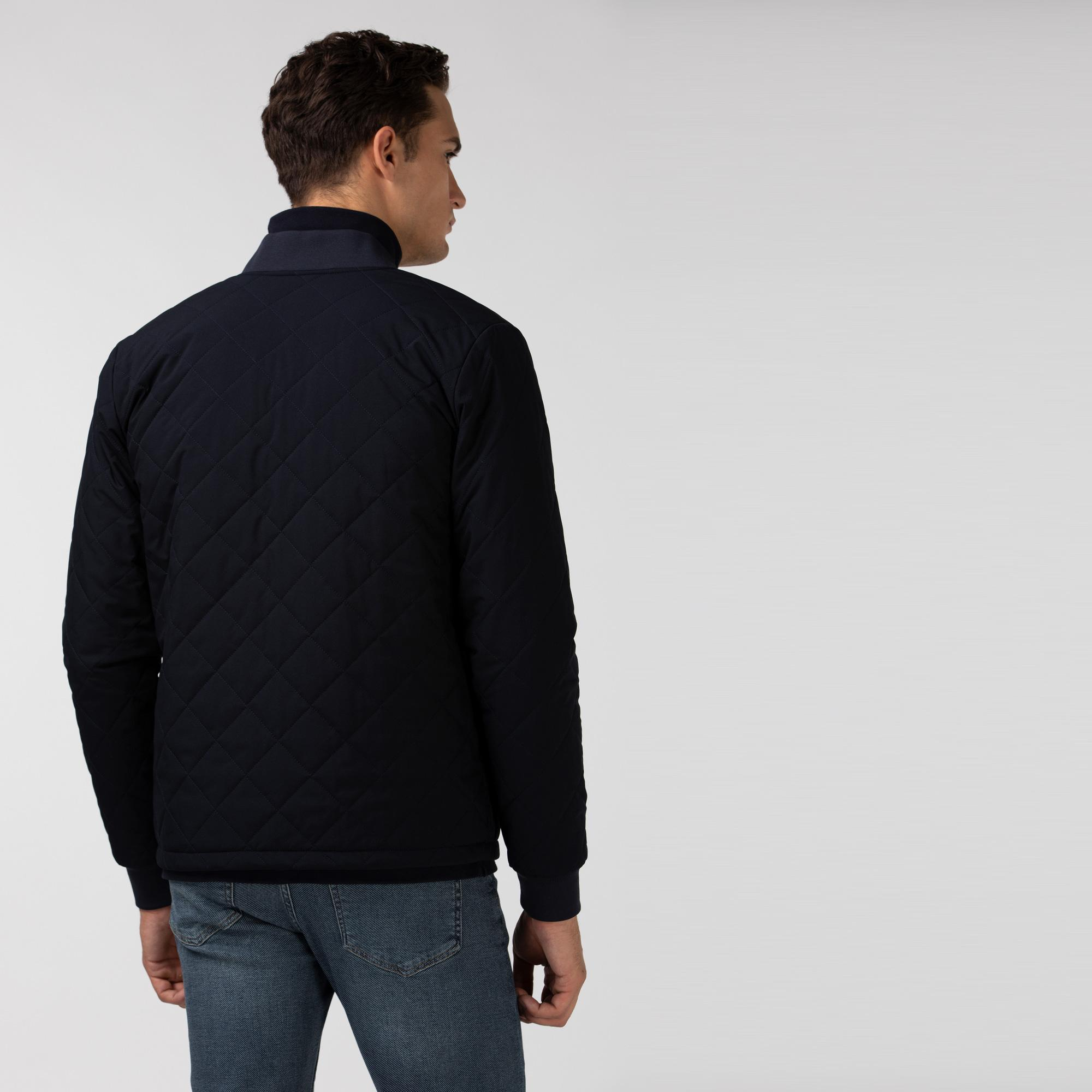 Lacoste Erkek Kapitone Lacivert Sweatshirt/Ceket