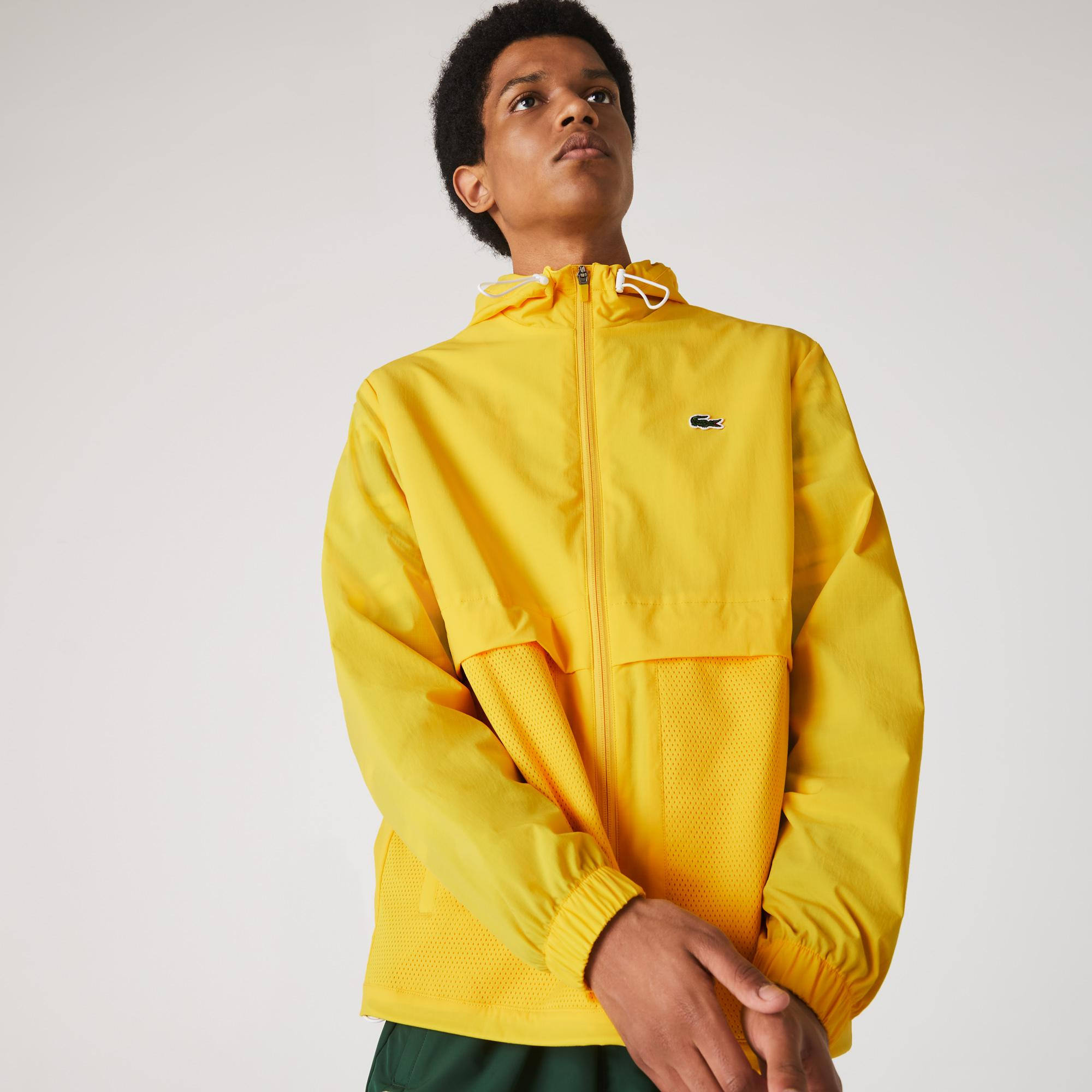 Lacoste Sport Erkek Kapüşonlu Sarı Rüzgarlık