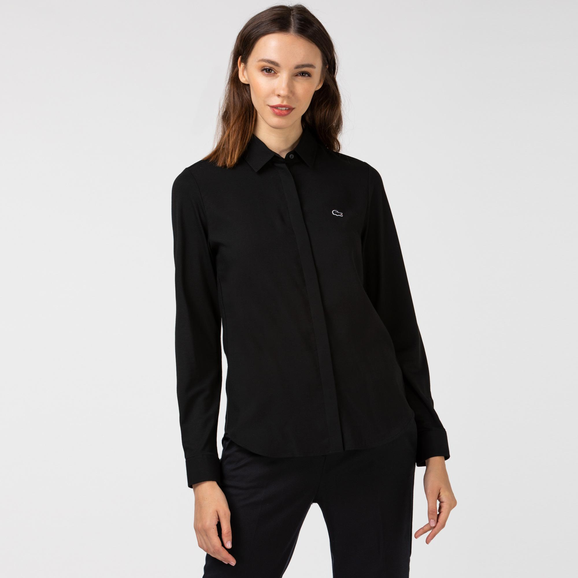 Lacoste Kadın Siyah Gömlek