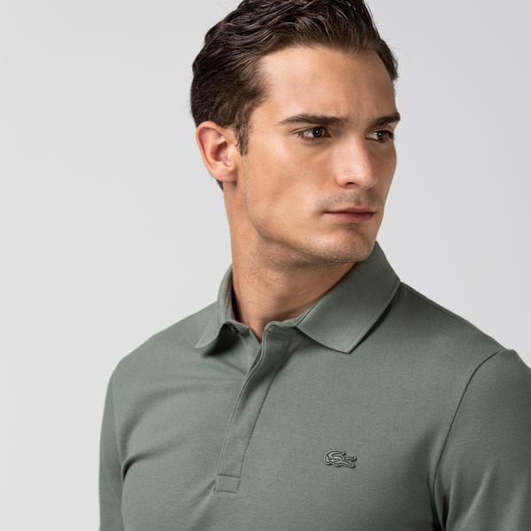 Lacoste Erkek Regular Fit Uzun Kollu Haki Paris Polo