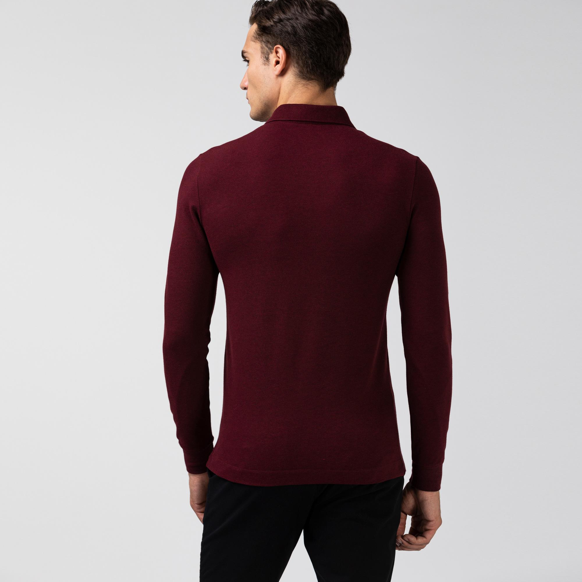 Lacoste Erkek Regular Fit Uzun Kollu Bordo Paris Polo
