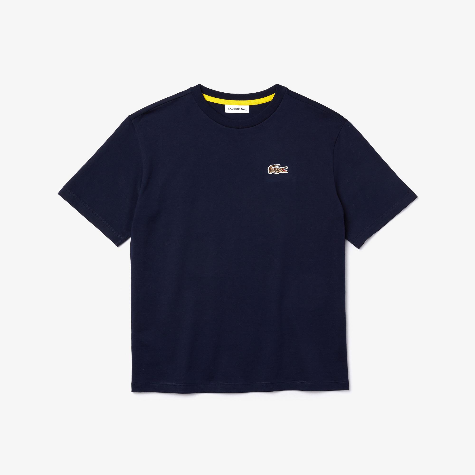 Lacoste x National Geographic Kadın Lacivert T-shirt