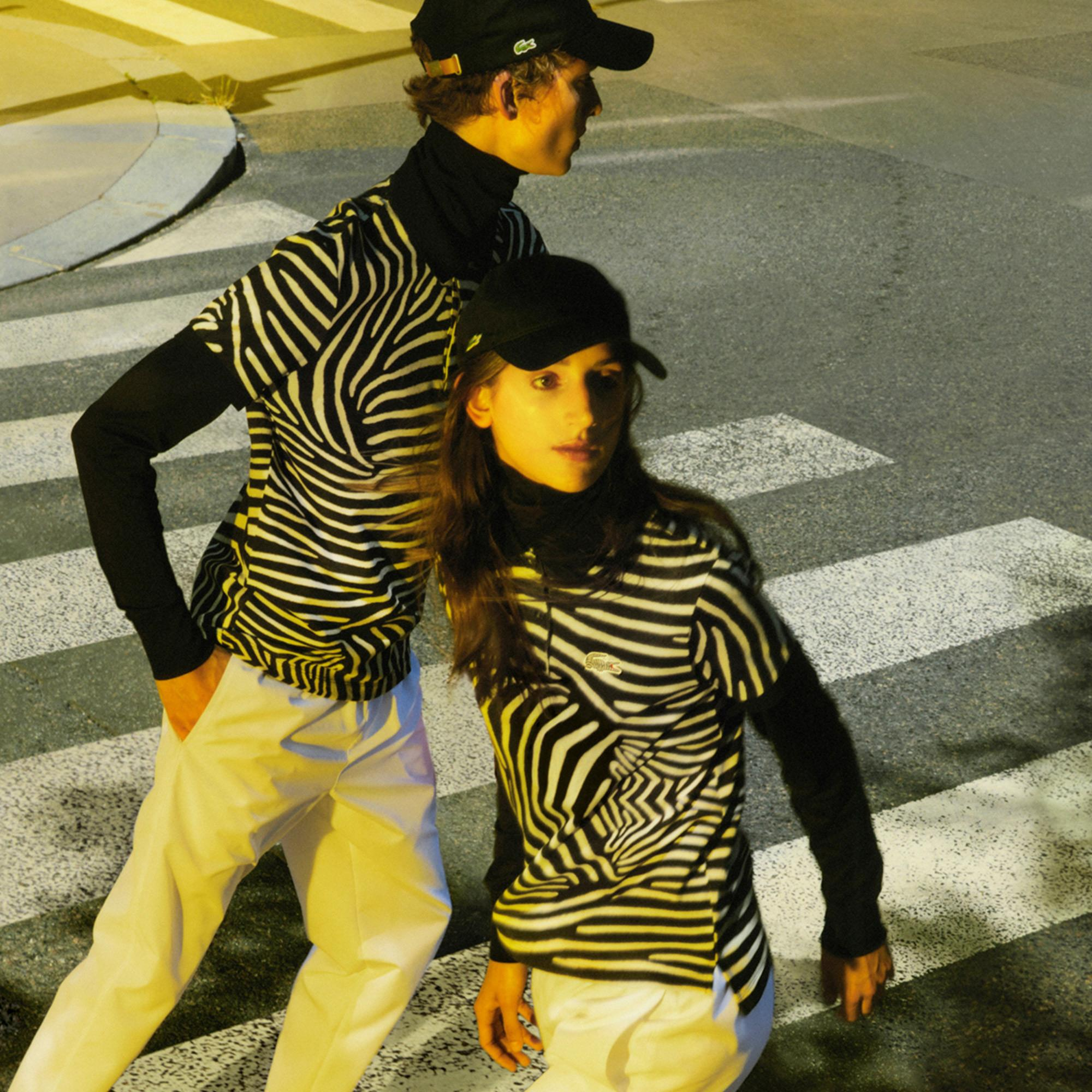 Lacoste x National Geographic Kadın Baskılı Renkli Polo
