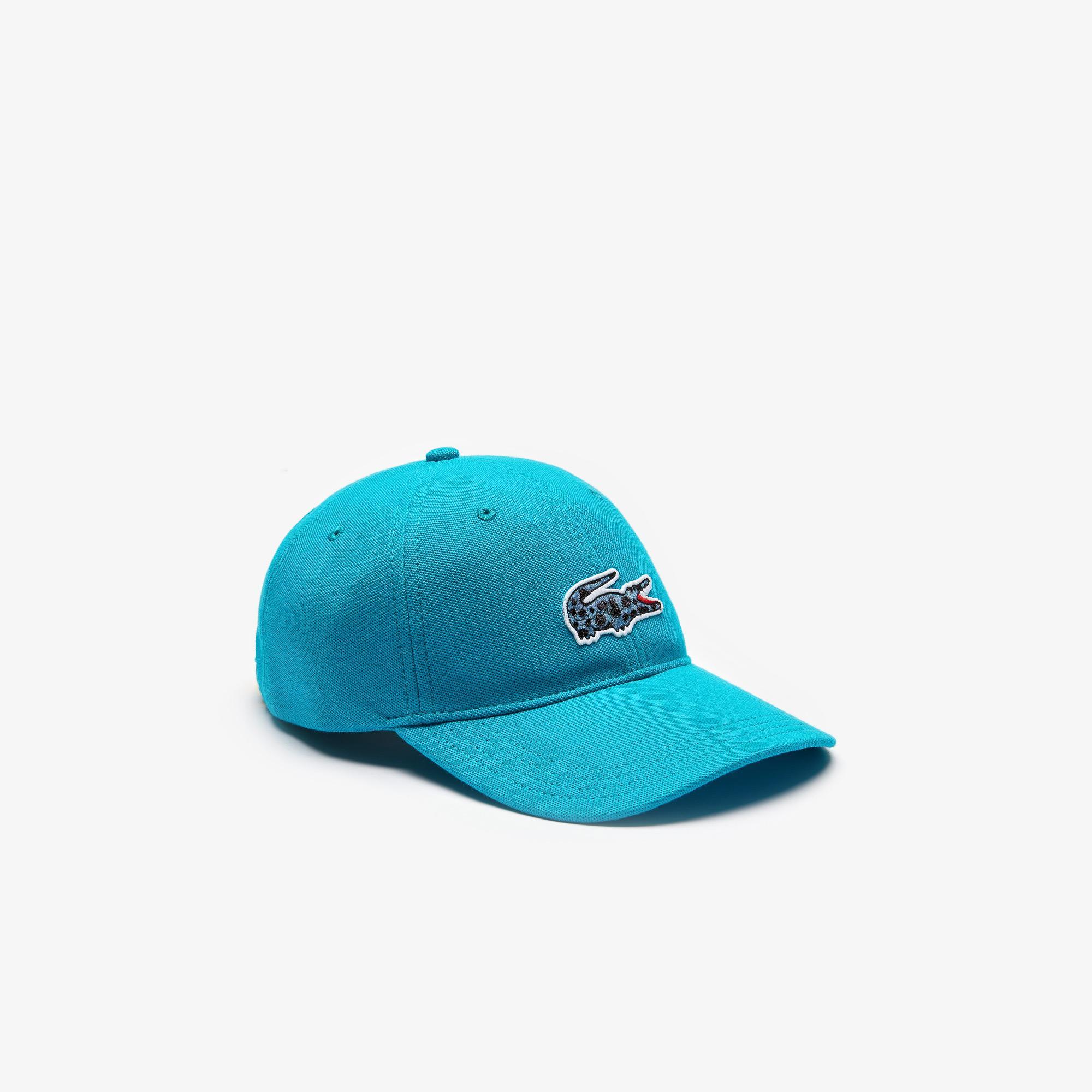 Lacoste x National Geographic Unisex Mavi Şapka