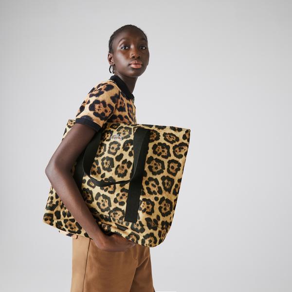 Lacoste x National Geographic Kadın Kahverengi Çanta