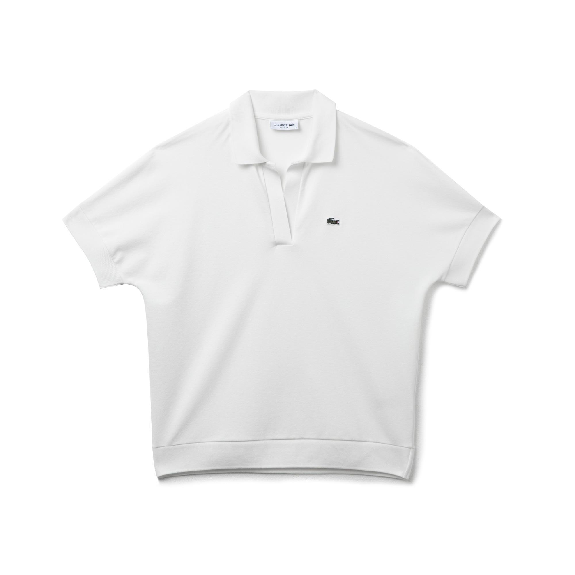 Lacoste Kadın Loose Fit Beyaz Polo