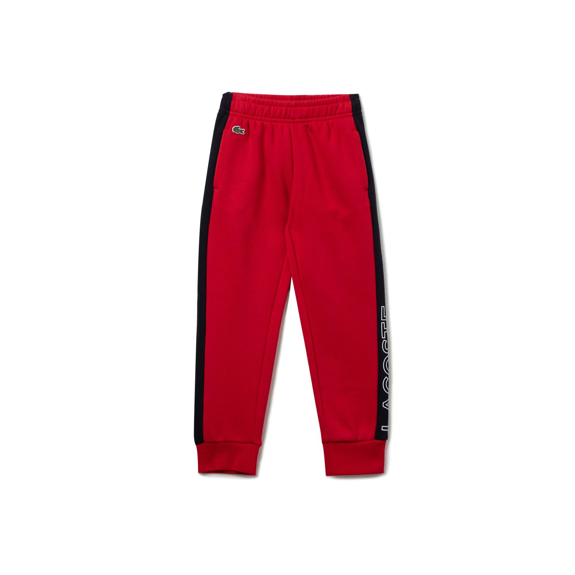 Lacoste Sport Çocuk Baskılı Lacivert - Kırmızı Eşofman Altı