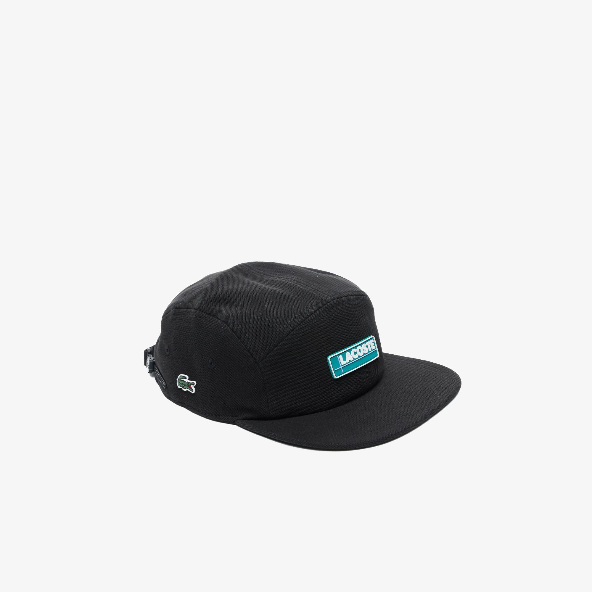 Lacoste L!VE Unisex Baskılı Siyah Şapka