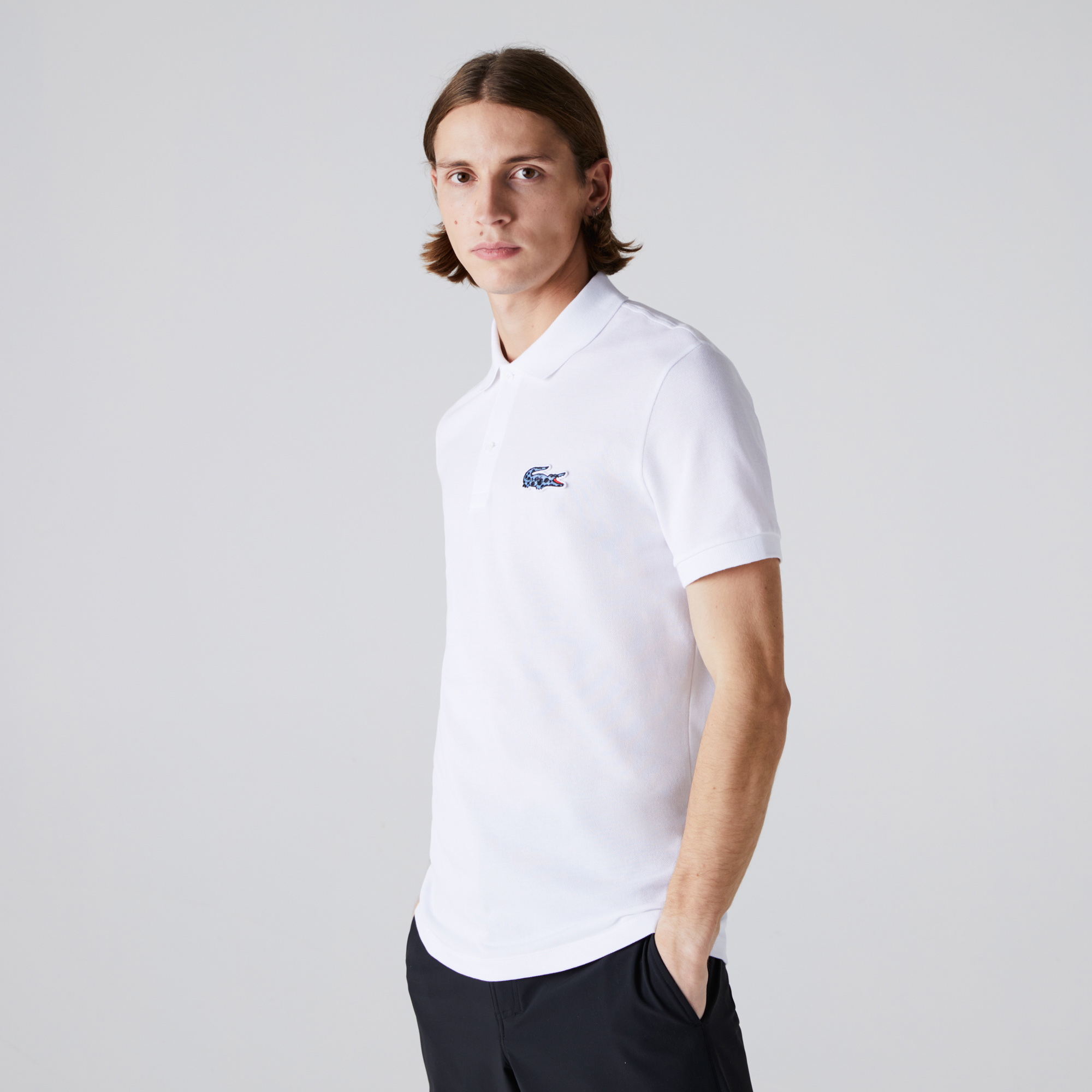 Lacoste x National Geographic Erkek Regular Fit Beyaz Polo